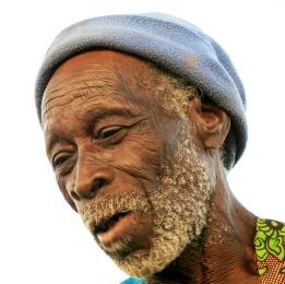 Vielle homme du Burkina-Faso
